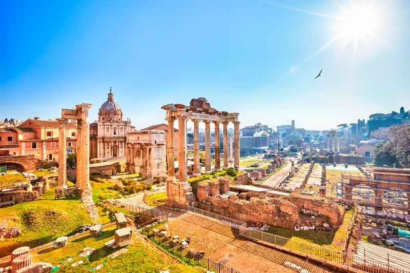 Het Forum Romanum behoort tot 5x de leukste stedentrips Italië in Rome