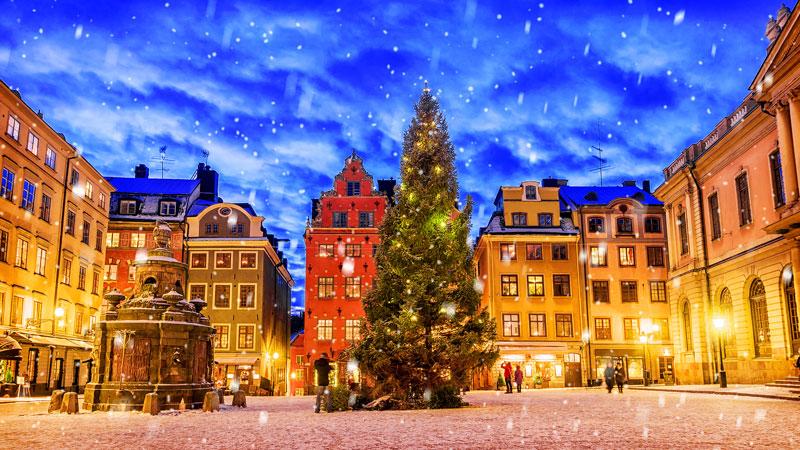 De stad Stockholm behoort tot een van de stedentrips in de winter