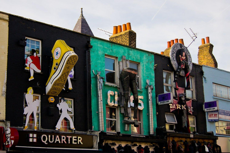 De hippe wijk Camden Town in Londen behoort tot een van de populaire stedentrips