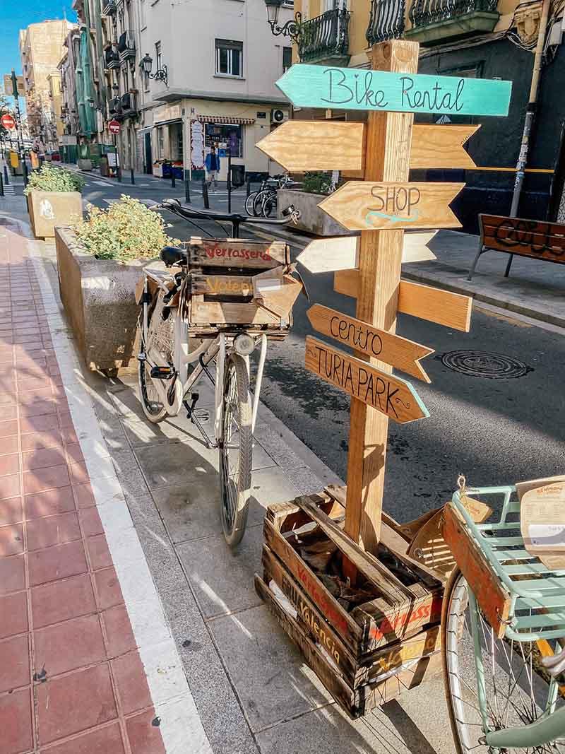 Wijsborden in Valencia horen bij Bebsy in Spanje de Valencia tips