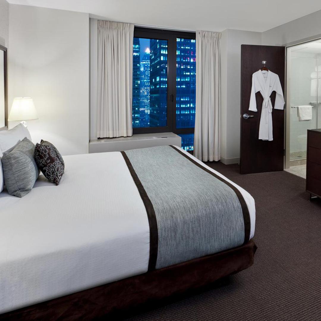 Hotelkamer van Hotel Distrikt New York City hoort bij een van de hippe hotels in New York