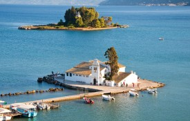 Het eiland Pontikonisi