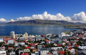 De hoofdstad Reykjavik