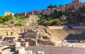 Het Romeinse theater Teatro Romano