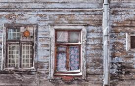 De houten huizen van Maskavas