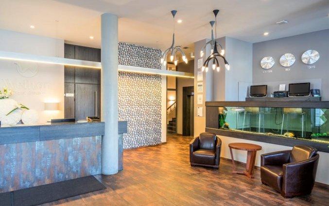 Receptie van Wellton Centrum Hotel en Spa in Riga