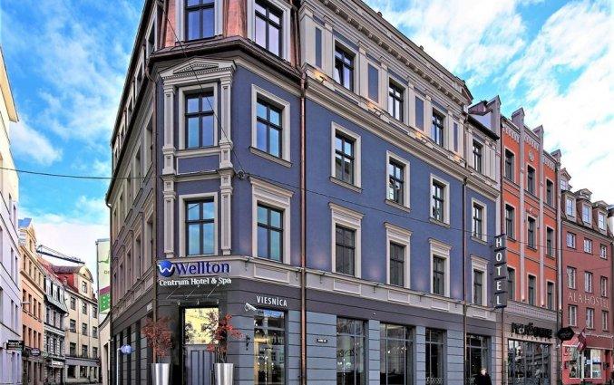 Gebouw van Wellton Centrum Hotel en Spa in Riga