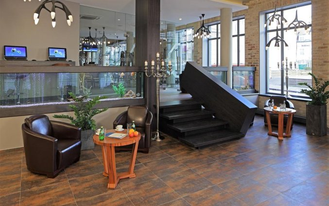 Lobby van Wellton Centrum Hotel en Spa in Riga