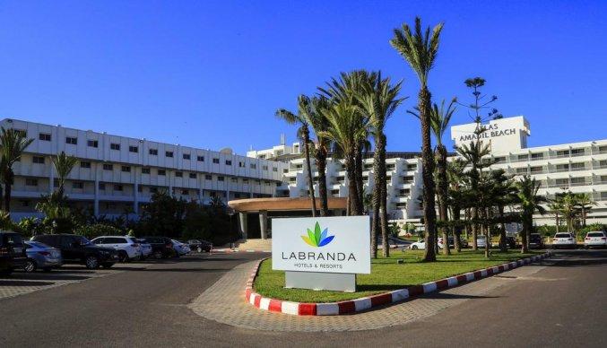 Voorkant van hotel Atlas Amadil Beach Aqua Sun in Agadir