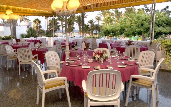 Terras van appartementen Bajondillo in Fuerteventura