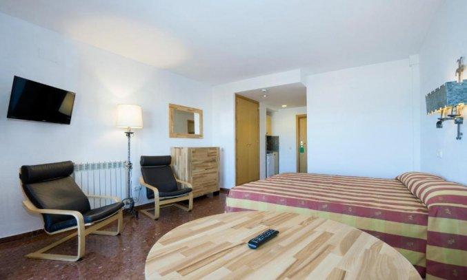 Slaapkamer van appartementen Bajondillo in Fuerteventura