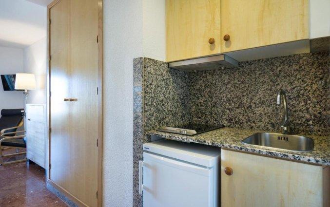 Keuken van appartementen Bajondillo in Fuerteventura