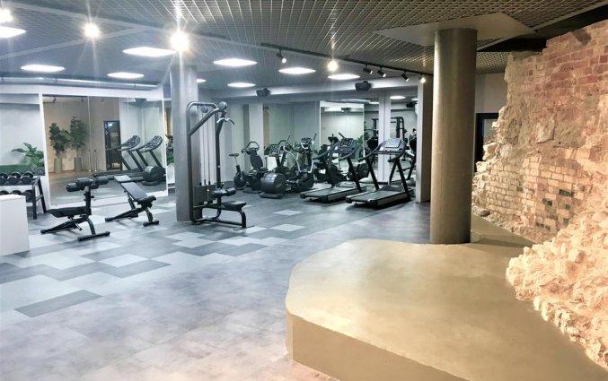 Fitnessruimte van Hotel Wellton Riverside Spa in Riga