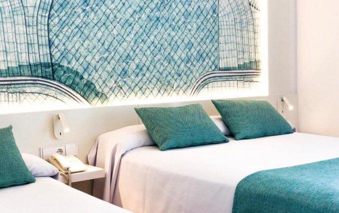 Slaapkamer van hotel Golden Taurus Aquapark in Costa Brava