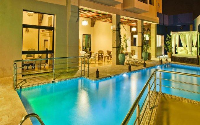 Zwembad van Hotel Lawrence D'arabie in Marrakech