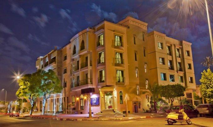 Gebouw van Hotel Lawrence D'arabie in Marrakech