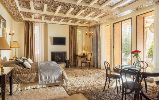 Slaapkamer van Hotel Tigmiza Suites en Pavillions in Marrakech