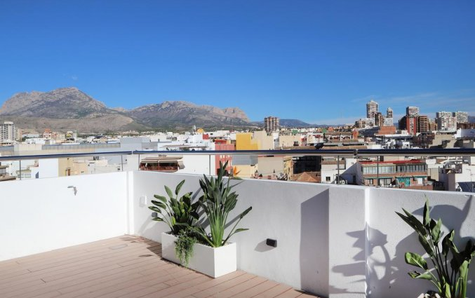 Dakterras van hotel Alameda in Alicante