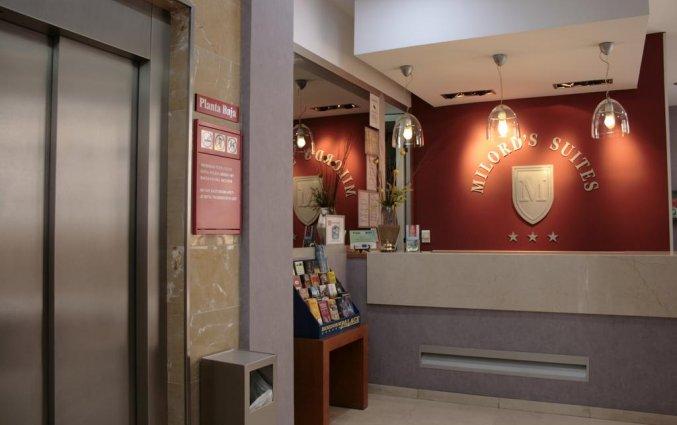 Receptie van hotel Milord's Suites in Alicante