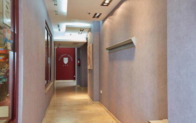 Gangen van hotel Milord's Suites in Alicante