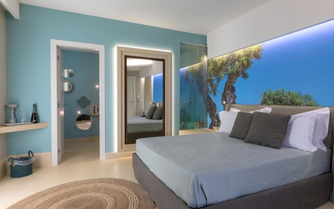 Tweepersoonskamer van Resort Terra d'Acqua in Puglia