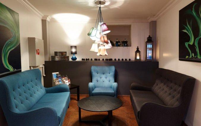 Lounge van hotel Fosshotel Baron in Reykjavik