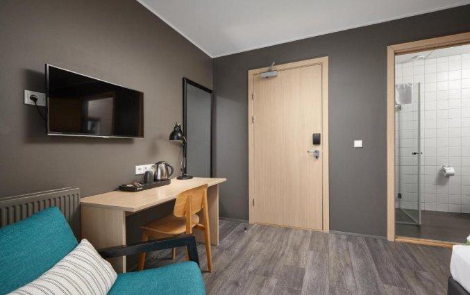 Slaapkamer van hotel Alda in Reykjavik