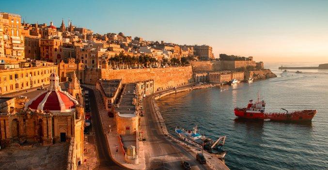 Malta - Zonsondergang Valletta