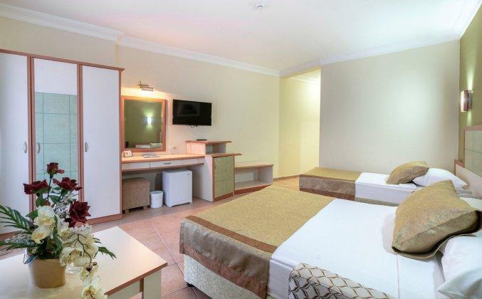 Tweepersoonskamer van hotel Blue Star Alanya