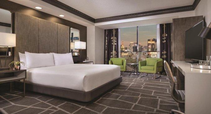Tweepersoonskamer van hotel Luxor en Casino