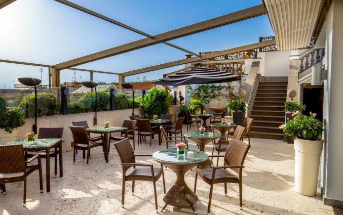Dakterras van hotel Savoy in Rome