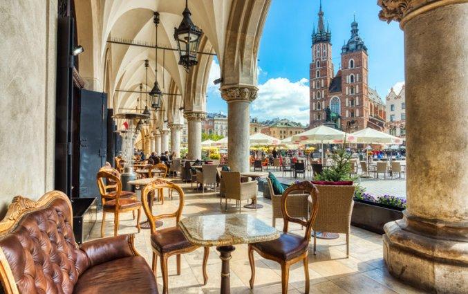 Krakau - Grote Markt met terrasjes