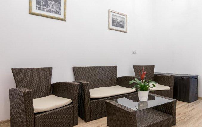 Lounge van appartementen Pergamin Royalin Krakau