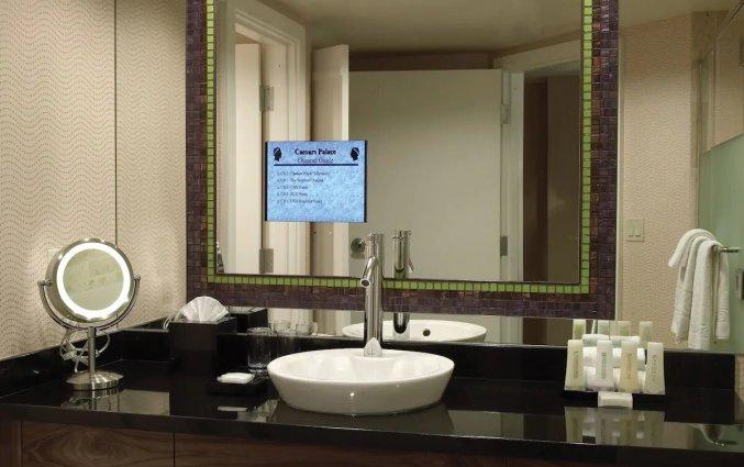 Badkamer van een tweepersoonskamer van Hotel en Casino Caesars Palace in Las Vegas