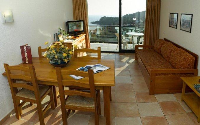 Woonkamer van Appartementen Albamar in de Costa Brava