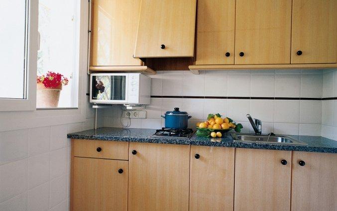 Keuken van Appartementen Albamar in de Costa Brava