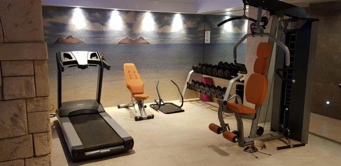 Fitnessruimte van hotel Pi-mar in Costa Brava