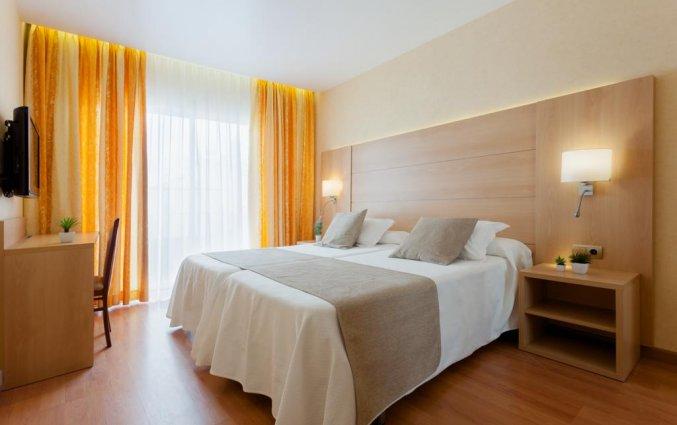 Slaapkamer van hotel Pi-mar in Costa Brava