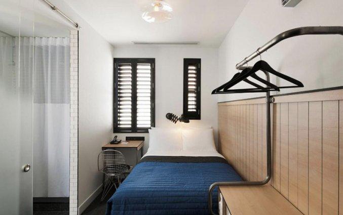 slaapkamer van hotel pod new york