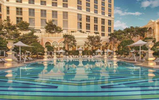 Zwembad van hotel Bellagio Las Vegas