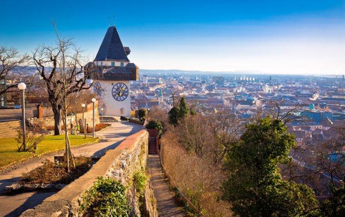 Graz - Uhrturm mijlpaal
