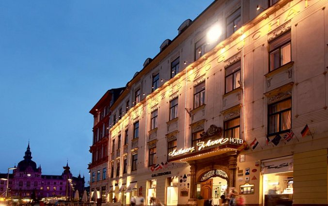 Gebouw van Palais Hotel Erzherzog Johann Graz