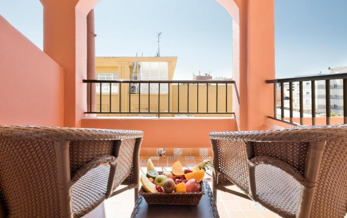 Balkon van Hotel Santa Ponsa Pins op Mallorca