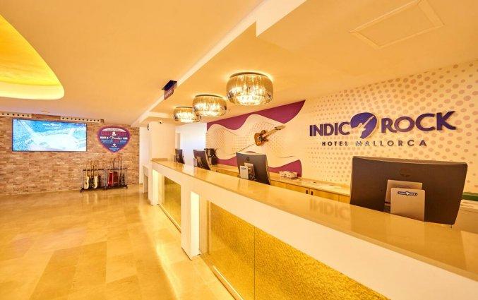 Receptie van Hotel Indico Rock in Mallorca