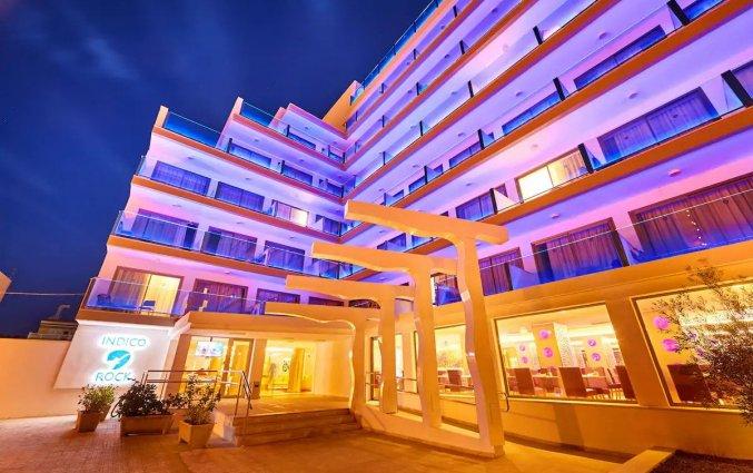 Gebouw van Hotel Indico Rock in Mallorca