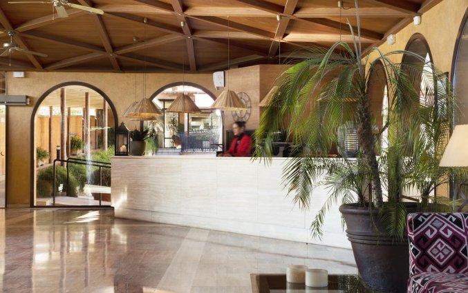 Receptie van Luna Club Hotel & Spa aan de Costa Brava