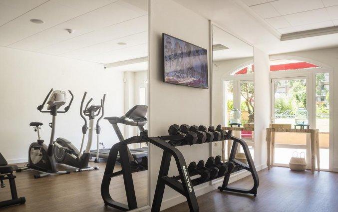 Fitnessruimte van Luna Club Hotel & Spa aan de Costa Brava