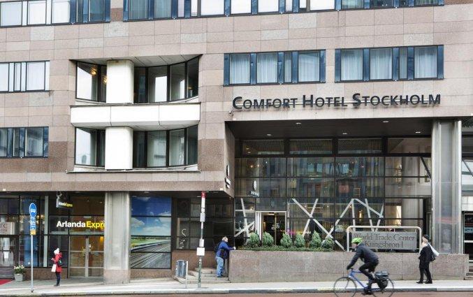Entree van Comfort hotel Xpres Stockholm Central