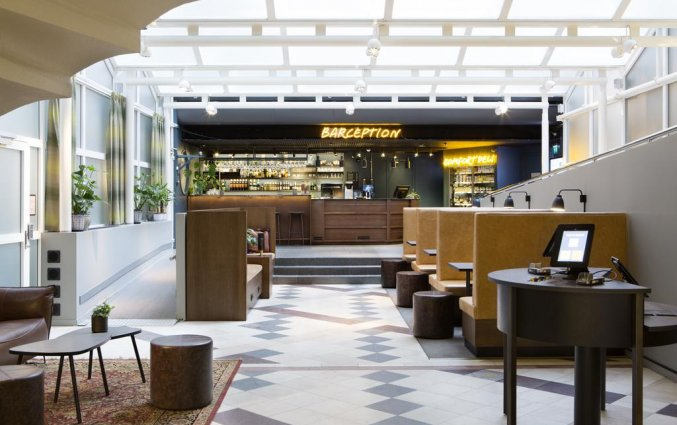 Bar en receptie van Comfort hotel Xpres Stockholm Central