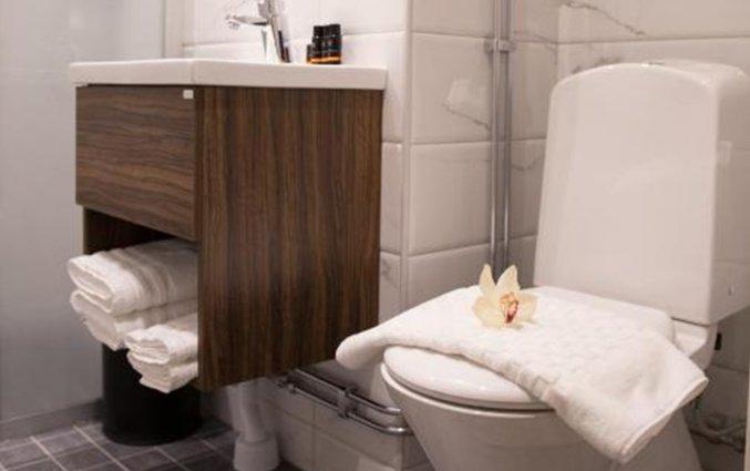 Badkamer in een tweepersoonskamer van Hotel Gamla Stan in Stockholm
